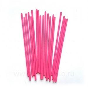 Палочки бумажные для Cake pops (розовые, 15 см, 100 шт)