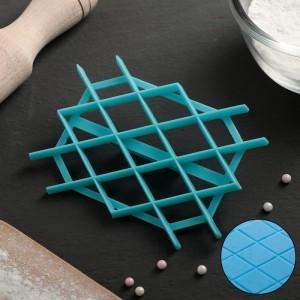 """Печать для марципана и теста """"Решетка крупная"""", 130*75*7мм, цвет микс"""