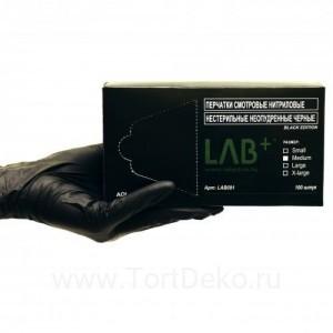 Перчатки нитриловые черные M 100 шт