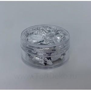 Пищевое серебро - 1 лист (баночка)