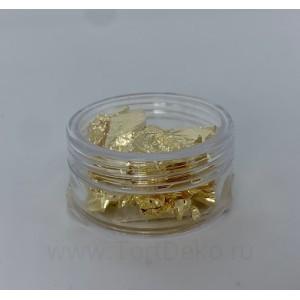 Пищевое золото - 1 лист (баночка)