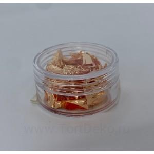 Пищевое золото розовое - 1 лист (баночка)