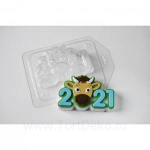 """Пластиковая форма """"Бычок 2021"""""""