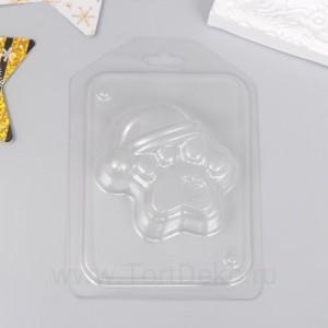 """Пластиковая форма """"Лапа тигра в шапке"""" 7,4х7,3 см"""