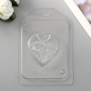 "Пластиковая форма ""Невеста"" 6х6 см"