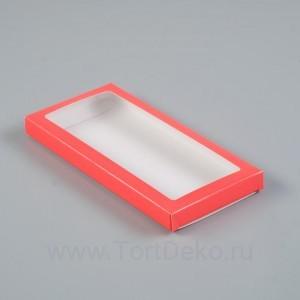 Подарочная коробка под плитку шоколада, алый, 17,1 х 8 х 1,4 см