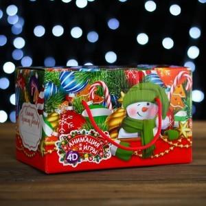 """Подарочная коробка """"Елочные игрушки"""", посылка, 20 х 12 х 12 см"""