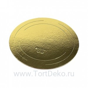 Подложка D 260 мм, 2,5 мм (золото)
