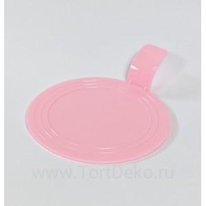 Подложка D 75 мм, пластиковая круглая (розовая, 10 шт.)