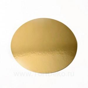 Подложка D160 мм, 0,8 мм (золото)