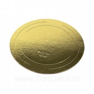 Подложка D220 мм, 2,5 мм (золото, усиленная)