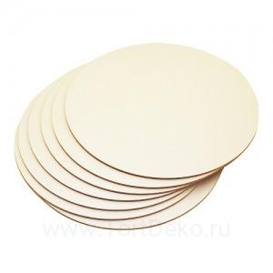Подложка для торта из фанеры, D=400 мм, толщина 4 мм
