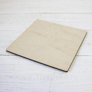 Подложка для торта из фанеры квадратная, 260*260 мм, толщина 6 мм