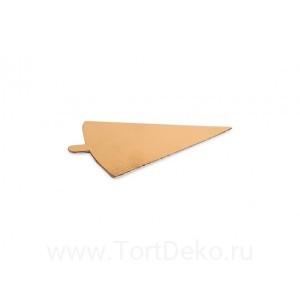 Подложка с держателем 120*90 мм, 0,8 мм (золото, треугольная)