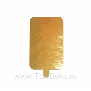 Подложка с держателем, 90*55 мм, 0,8 мм (золото, прямоугольная)