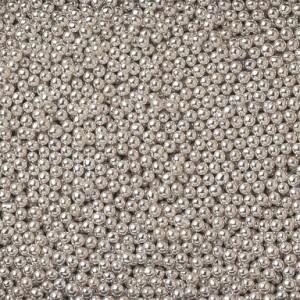 """Посыпка """"Ambrosio"""" Шарики сахаристые серебряные 3 мм, (100 г)"""