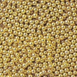 """Посыпка """"Ambrosio"""" Шарики сахаристые золотые 3 мм, (100 г)"""