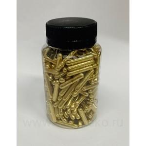 "Посыпка""ТортДеко"" Золотые палочки, 100 г"
