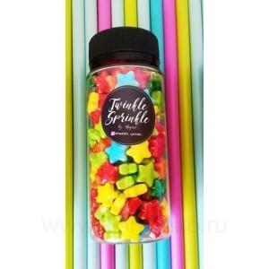 """Посыпка Twinkle Sprinkle """"Rainbow Stars"""", 100г"""