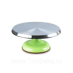 Поворотный столик вращающийся профессиональный металлический, D 31 см (Зелёный)