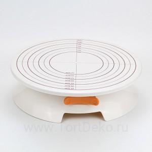 Поворотный столик вращающийся с разметкой 30 х 8 см (пластик)