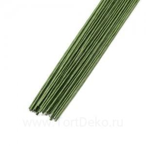 Проволока в бумажной обмотке пучок (50 шт), 36см №18 Зеленая
