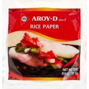 """Рисовая бумага """"Aroy-D"""" круглая 22 см (454 г)"""