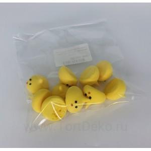 """Сахарная фигурка """"Цыплятки малютки"""", d20-23, h19-21мм(10 шт)"""