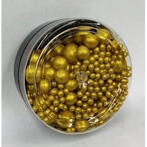 """Сахарные шарики """"Art of Paints"""" золотое сияние, микс d2-20мм, 50 г"""