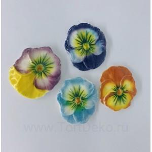 """Сахарный цветок """"Анютины глазки"""" d5см"""