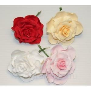 """Сахарный цветок """"Роза с приставным листом"""""""