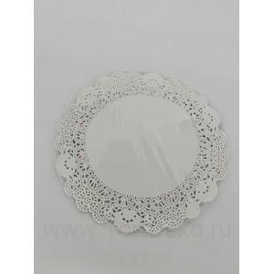 Салфетки бумажные ажурные D 180 мм (25 шт)