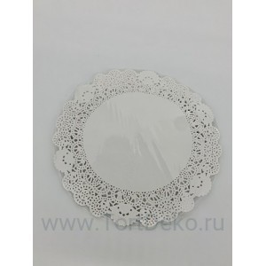 Салфетки бумажные ажурные D 260 мм (25 шт)