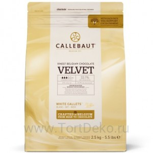 "Шоколад белый ""Callebaut"" Velvet 32%, каллеты, (250 г)"