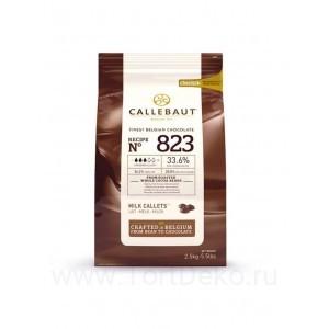 "Шоколад молочный ""Callebaut"" 33,6%, каллеты, (2,5кг)"
