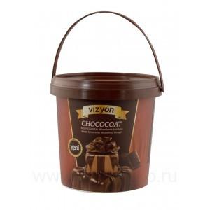 Шоколадная паста для моделирования Vizyon (темная) 1 кг