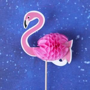 """Шпажки """"Розовый фламинго"""" (набор 6шт)"""