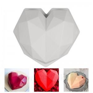 """Силиконовая форма для мусса """"Сердце оригами"""" (SilikoLove)"""