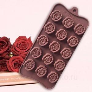 """Силиконовая форма для шоколада """"Клумба роз"""""""
