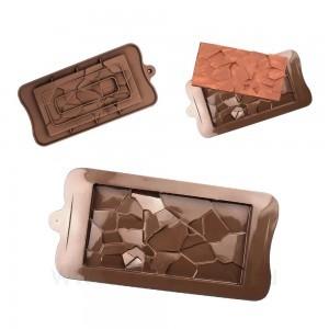 """Силиконовая форма для шоколада """"Плитка грани"""""""