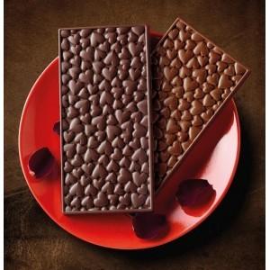 """Силиконовая форма для шоколада """"Плитка сердечки"""""""