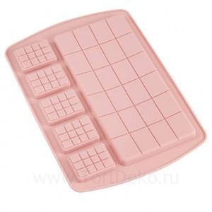 """Силиконовая форма для шоколада """"Разные плитки"""""""