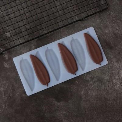 Силиконовый мат для отливки шоколада «Перья»