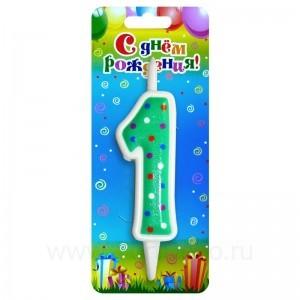 """Свеча для торта """"Цифра 1"""""""
