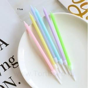 """Свечи в торт """"Цветные"""" 6 шт, 11 см"""