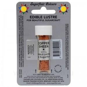 Сверкающий краситель Sugarflair Cooper Sheen E109 (Блестящая медь) 7 мл