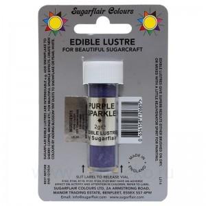 Сверкающий краситель Sugarflair Purple Sparkle E137 (Искрящийся фиолетовый) 7 мл
