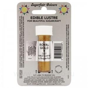 Сверкающий краситель Sugarflair Royal Gold E105 (Королевское золото) 7 мл