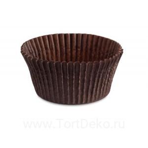 Тарталетки круг 125 (коричневая), 55*35 мм, (100 шт)