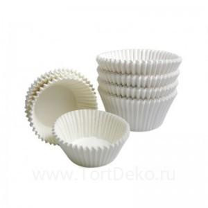 Тарталетки круг 1А (белая), 22*15,5 мм 100 шт